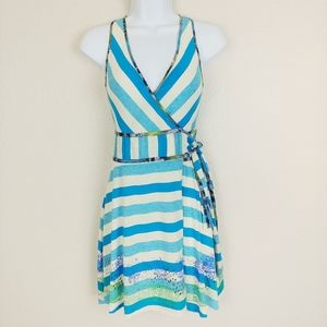 Free People Striped Wrap Dress Size 2